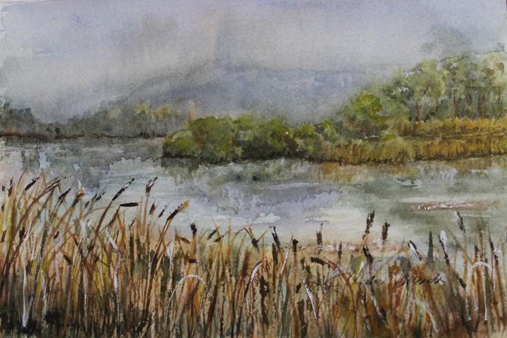 Autumn Mist, watercolor 16x20