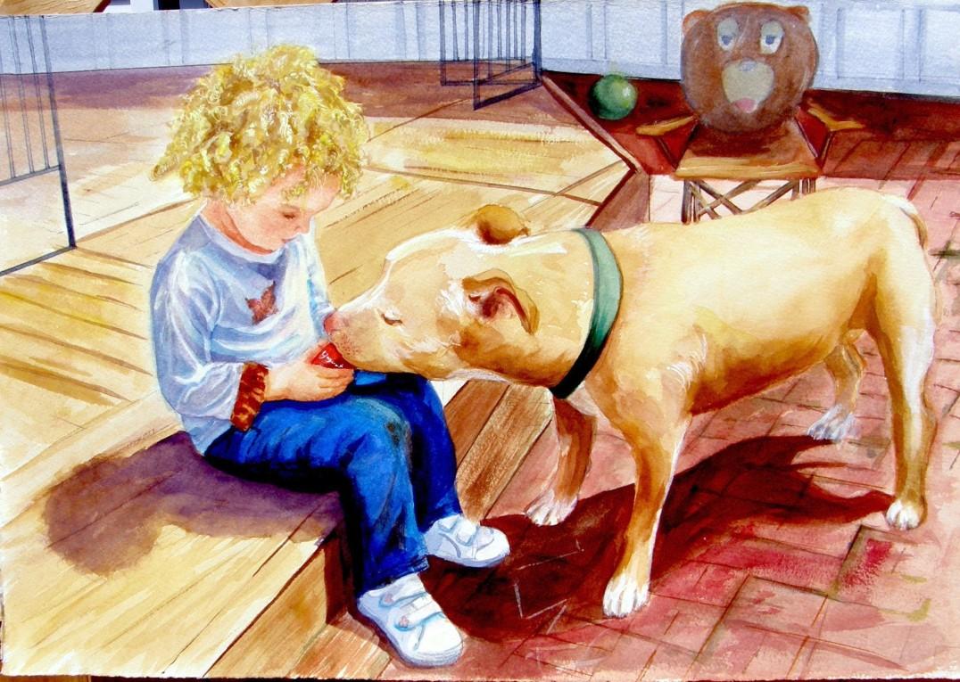 Best Friends, watercolor 22X28