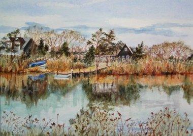 Oak Island, watercolor 16x20