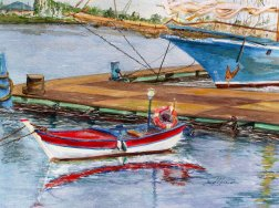 Portuagal Marina, watercolor 16x20