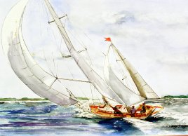 White Sails, watercolor 16x20